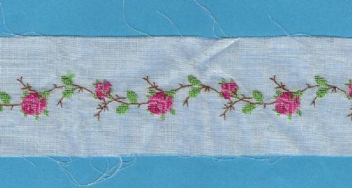 Embroidered Handloom Insertion
