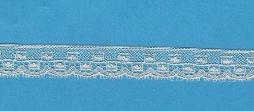 Maline Lace Edging-Box Pattern-Pale Ecru