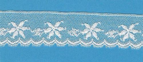 Maline Lace Edging-Poinsettia Pattern