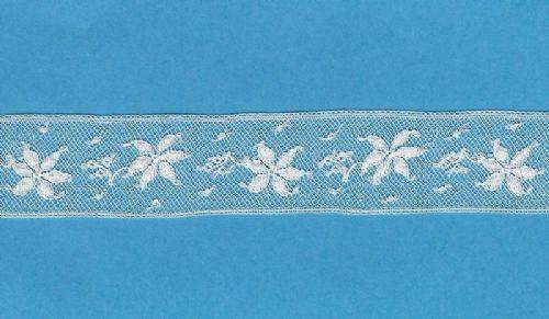Maline Lace Insertion-Poinsettia Pattern