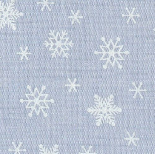 FF-2242 Chambray Snowflakes on Blue