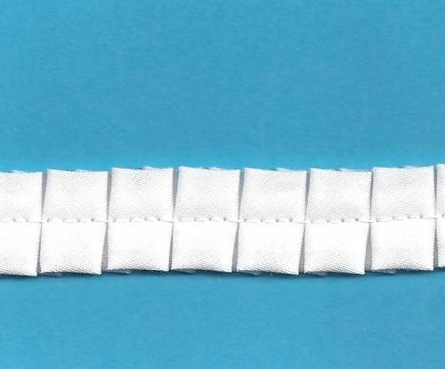 Bias Double Box Pleated Fabric Trim