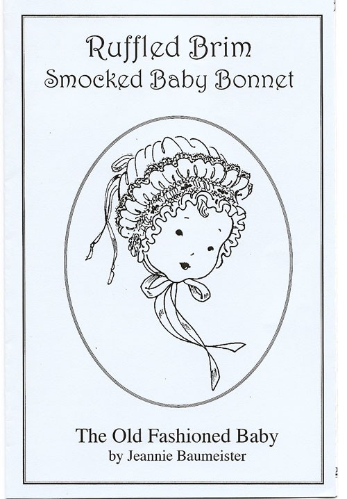Ruffled Brim Smocked Baby Bonnet
