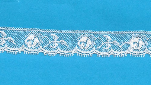 Maline Lace Edging-Rose Pattern