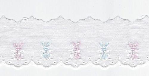 Swiss Edging-Pastel Bunnies