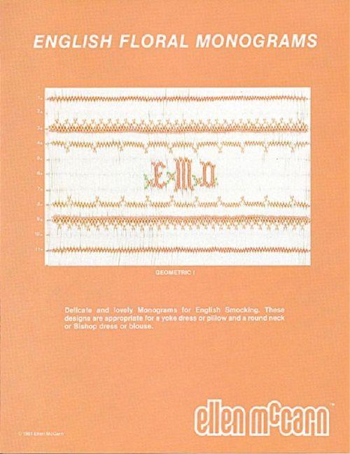 English Floral Monograms