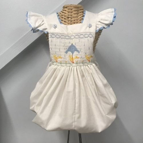 Ready to Smock Inset Sunsuit Bubble