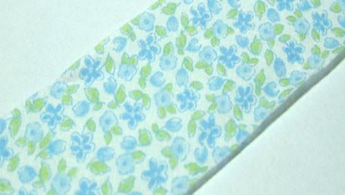 Blue Floral Precut Bias