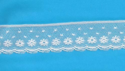 Maline Lace Edging-Daisy Pattern