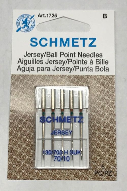 Schmetz Jersey/Ball Point Needles-70/10