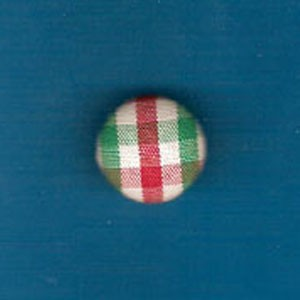 FHF-Red/Green Plaid Covered Button