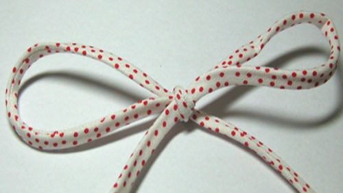 White & Red Dot Spaghetti Bias-Peppermint Garden