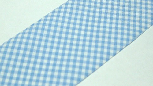 Lt. Blue Gingham Precut Bias