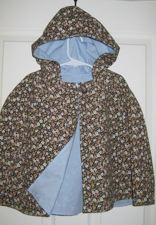 Little Red Riding Hood Cape in Brown Corduroy