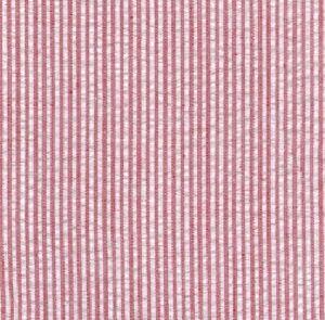 Seersucker Mini Stripe-Red