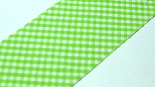 Lime Gingham Precut Bias