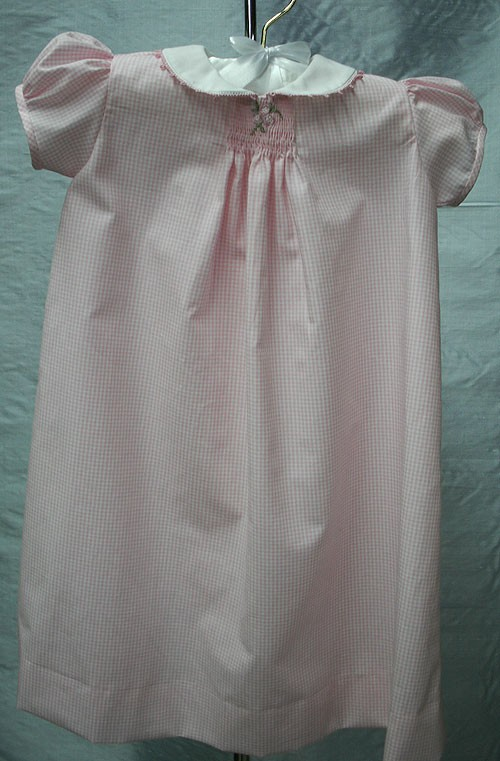 Pink Check Daygown