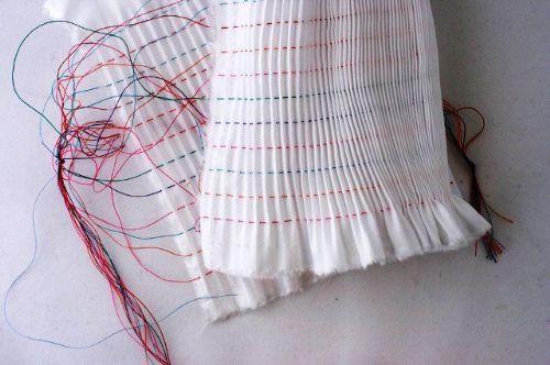 10 row Pleated Inset-Pima Broadcloth