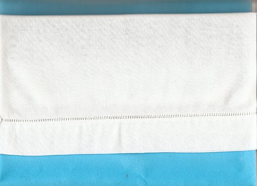Linen Baby Pillowcase/Hemstitched