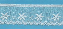 Maline Lace Edging-Poinsettia Pattern