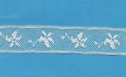 Maline Lace Insertion-Poinsettia Pattern