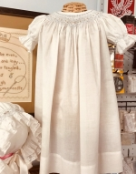 Heirloom Hand Smocked Bishop Daygown or Dress