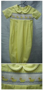 Yellow Check Sacque Gown