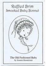 Ruffled Brim Smocked Baby Bonnet
