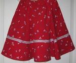 Elly Skirt in Red Printed Corduroy