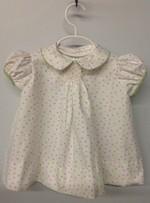 Toddler Smocked Apron-Pink Sparkles