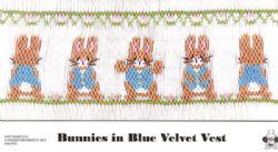Bunnies in Blue Velvet Vest
