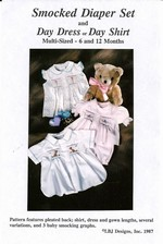 Smocked Diaper Set