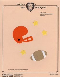 Football & Helmet #787-Orange
