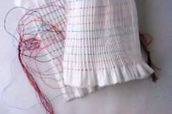 8 rows Pleated Inset-Imperial Batiste or Broadcloth
