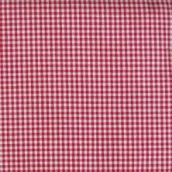 Pima Gingham Check Red