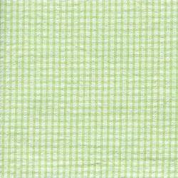Seersucker Check-Apple Green