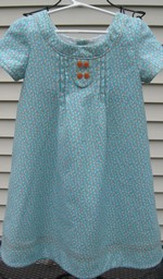Family Reunion Dress in Blue Twill